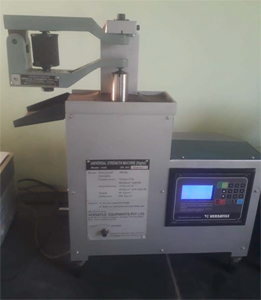 Mould Sand Compression and Tensile Strength Testing